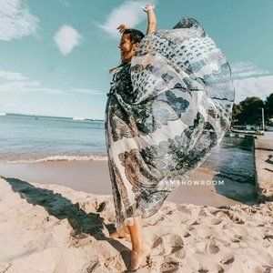 NWT Zara Paisley Printed Maxi Strappy Dress Medium